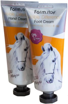 Набор: крем для рук и ног с лошадиным жиром FarmStay jeju mayu complete Hand & Foot Cream