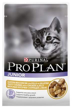 Влажный корм для котят PRO PLAN Nutri Savour Junior, курица, 85г