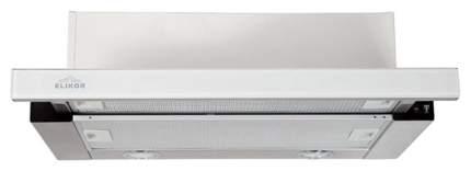 Вытяжка встраиваемая Elikor Интегра Glass 45Н-400-В2Д КВ II Silver/White