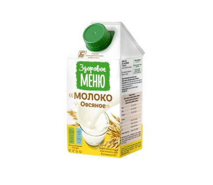 Молоко овсяное Здоровое Меню 0.5 л