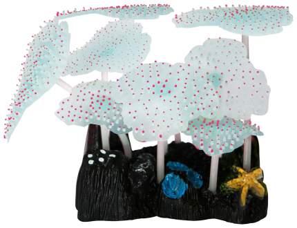 Декорация для аквариума JELLY-FISH Морской Гриб светящийся, силикон, розовый, 9,8х7,5х11см