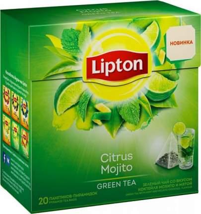 Чай зеленый Lipton citrus mojito 20 пакетиков
