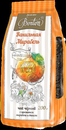 Чай Bonton ванильная мирабель черный крупнолистовой 200 г