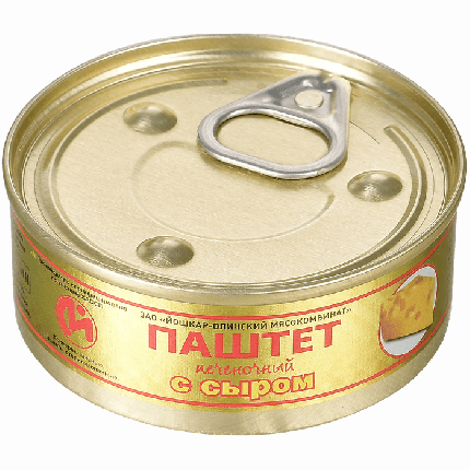 Консервы мясные ЙОМ паштет печеночный с сыром №1 100 г