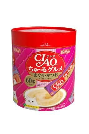 Лакомство для кошек CIAO деликатесный фьюжн на основе мраморной вырезки тунца 1шт, 0.84кг