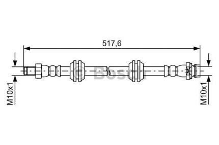 Шланг тормозной системы Bosch 1 987 481 731