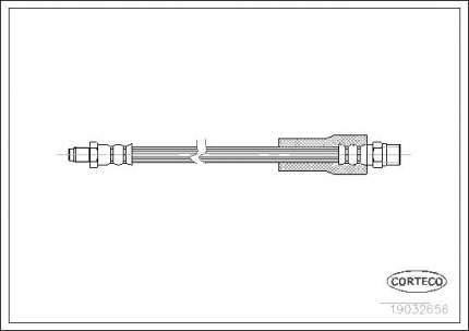 Шланг тормозной CORTECO 19032656