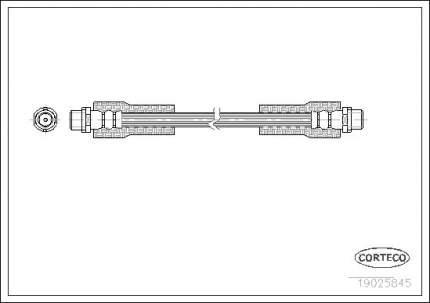 Шланг тормозной CORTECO 19025845