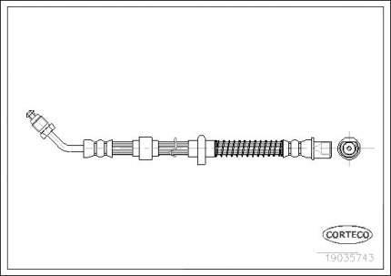 Шланг тормозной системы CORTECO 19035743