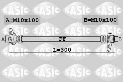 Шланг тормозной SASIC 6600061