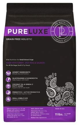 Сухой корм для собак PureLuxe GF Holistic Для собак мелких пород, индейка, лосось, 5кг