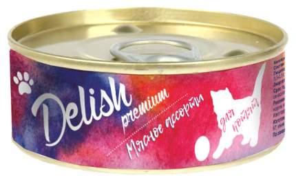Консервы для котят Delish Premium мясное ассорти 100 г
