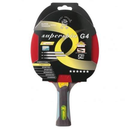 Ракетка для настольного тенниса Giant Dragon ST12601 Superspin G4, красная