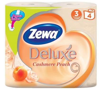 Туалетная бумага Zewa Deluxe Персик, 3 слоя, 4 рулона