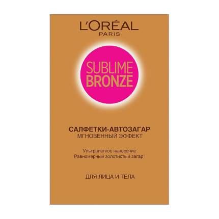 Средство для автозагара L'Oreal Paris Sublime Bronze салфетки 2 шт
