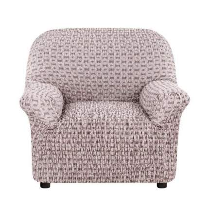 Чехол на кресло Еврочехол Сиена Сатурно коричневый