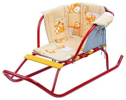 Сиденье для санок Ника мягкое с подлокотниками Бязь