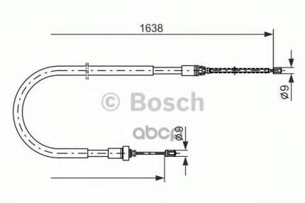 Трос cтояночного тормоза Bosch 1987477586