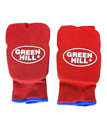Накладки на кисть Green Hill эластик HP-6133, хлопок, красный (XL)
