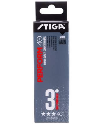 Мячи для настольного тенниса Stiga Perform ABS 3*, белый, 3 шт.