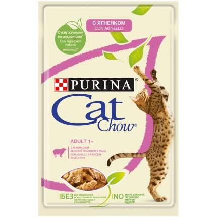 Влажный корм для кошек Cat Chow Adult с ягненком и зеленым горошком, 85 г