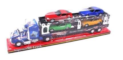Наборы игрушечного транспорта Shantou Gepai Машина автовоз с 4 машинами 45622
