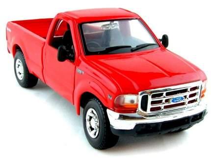 Машинка Maisto красная - Ford F-350 Super Duty Pickup 1999г 1:24