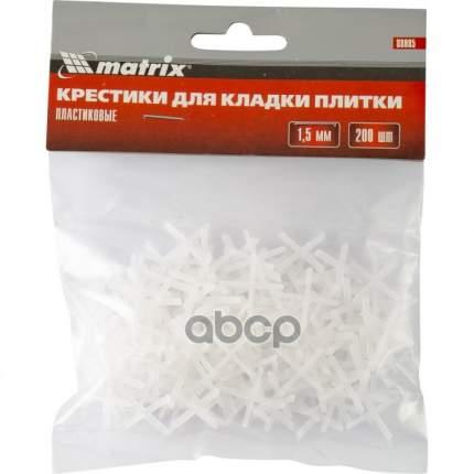 Крестики, 1,5 мм, для кладки плитки, 200 шт,// MATRIX