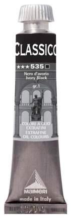 Масляная краска Maimeri Classico черный слоновая кость 20 мл