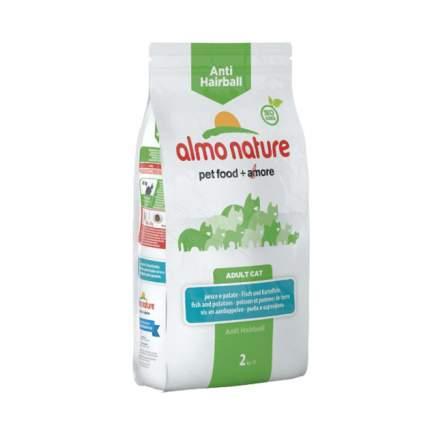 Сухой корм для кошек Almo Nature Functional Anti-Hairball, рыба и картофель, 2кг