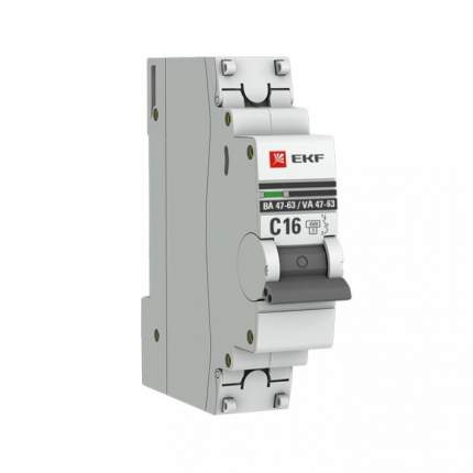 Автоматический выключатель EKF mcb4763-1-02B-pro