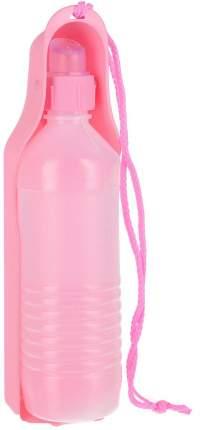 Поилка для животных №1 Портативная, розовая, 500 мл