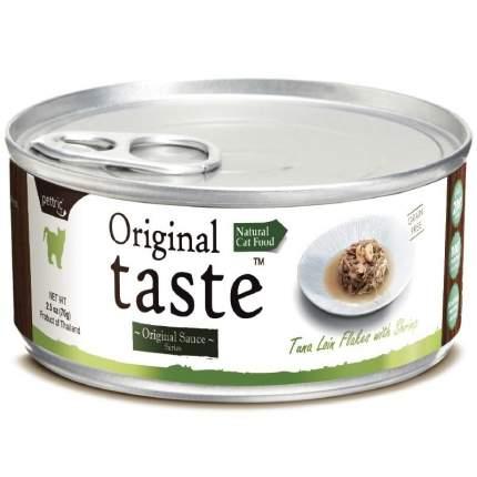 Консервы для кошек и котят Pettric Original Taste, с тунцом и креветками, 70г