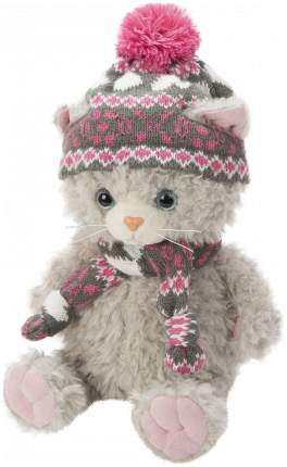 Мягкая игрушка Angel Collection Котик в шапке. Cat story 25 см