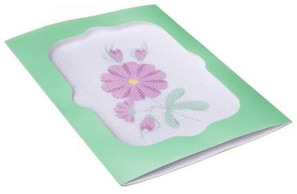 Вышивка лентами Bondibon розовые цветы вв2642