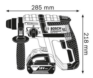 Аккумуляторный перфоратор Bosch GBH 18 V-EC 611904002
