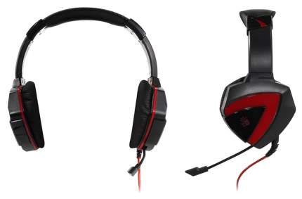 Наушники полноразмерные A4Tech G500 красный-черный
