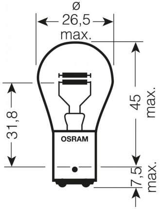 Лампа накаливания автомобильная OSRAM 21 4W (7225)