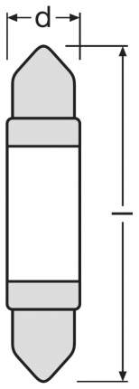 Лампа светодиодная автомобильная OSRAM 12V 1W 12V SV8.5-8 (6499WW-01B)