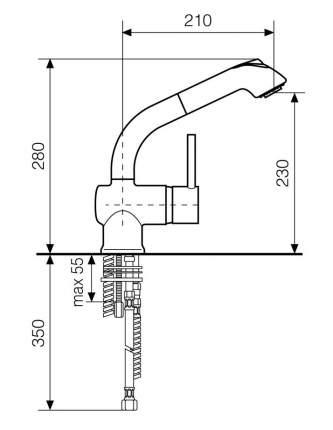 Смеситель для кухонной мойки Italmix ID0820CHR хром