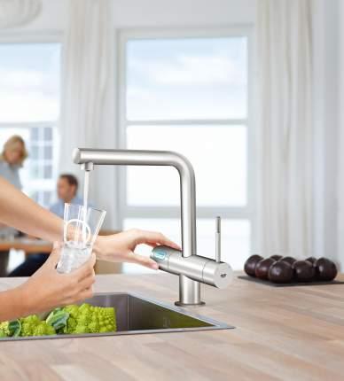 Смеситель для кухонной мойки Grohe Blue Minta New 31347DC2 нержавеющая сталь