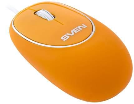 Проводная мышка Sven RX-555 Antistress Silent Orange (SV-03200555UOS)