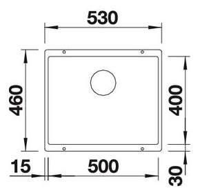 Мойка для кухни гранитная Blanco SUBLINE 500-U 513413 антрацит