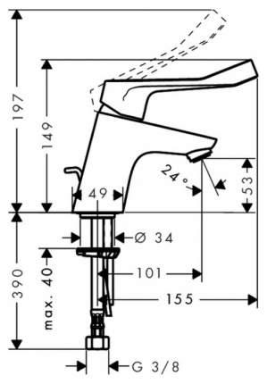 Смеситель для раковины Hansgrohe Focus 31910000 хром