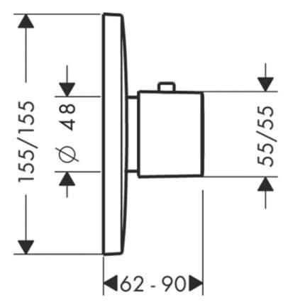 Смеситель для встраиваемой системы Hansgrohe PuraVida 15772000 хром
