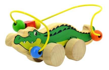 Каталка детская Мир Деревянных Игрушек Крокодил