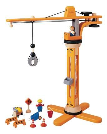Строительная техника PlanToys Башенный подъемный кран Деревянная игрушка 6086