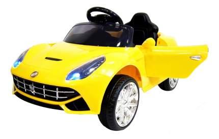 Электромобиль Ferrari желтый RIVERTOYS