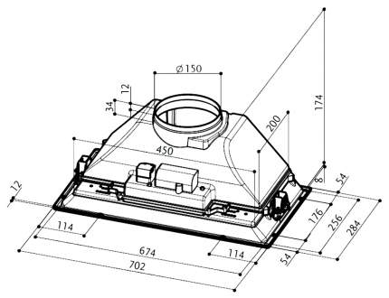 Вытяжка встраиваемая FABER Inca Smart HCS X A 70 Silver