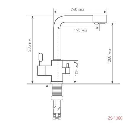 Смеситель для кухонной мойки Zigmund & Shtain ZS 1300 хром